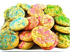 Skinny Easter Sugar Cookies.  http://www.skinnykitchen.com/recipes/skinny-springtime-sugar-cookies/