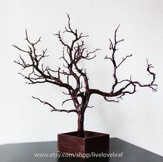 Brown Painted Manzanita Jewelry Tree, Jewelry Display,  Unique Jewelry holder, Real Tree Branch Jewelry Organizer. $65.00, via Etsy.