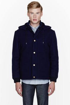 TryAngle Living | A.P.C.: Navy Quilted Doudoune Ski Jacket - TryAngle Living