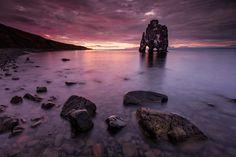 Sunset @ Hvítserkur by Gunnar Gestur  on 500px