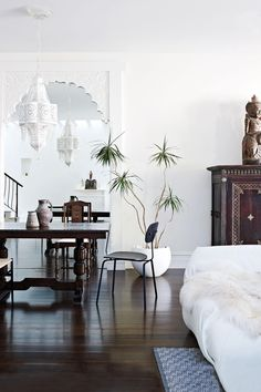 Exotic home decor - get inspiration from this home at insideout.com.au. Styling by @glenproebstel. Photography by Mark Roper.