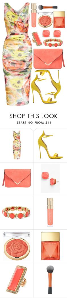 """Untitled #4344"" by natalyasidunova ❤ liked on Polyvore featuring FUZZI, Casadei, Kate Spade, Monet, Smith & Cult, Milani, Michael Kors and GUESS"
