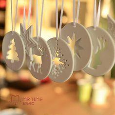Ceramic Christmas Decorations, Diy Christmas Ornaments, Handmade Christmas, Christmas Tree Decorations, Christmas Clay, Christmas Projects, Cheap Christmas, Christmas Angels, Diy Cadeau Noel
