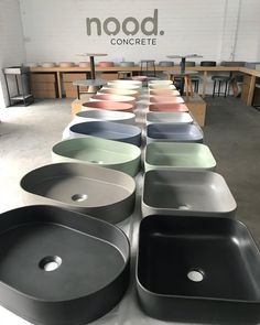 25 OFF TODAY ONLY. The Pill and Cube Sink are officially on show at Unit 7 / 7 Omalley St, Osborne Park. - Come and witness our 10 pastel concrete colours and 7 sink designs. Bathroom Interior, Modern Bathroom, Decor Interior Design, Interior Decorating, Concrete Basin, Architecture Restaurant, Decoration Bedroom, Sink Design, Bathroom Inspiration