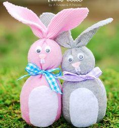 ❤ Húsvéti zokni nyuszik (varrás nélkül) ❤Mindy -  kreatív ötletek és dekorációk minden napra