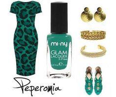 PEPEROMIA Green Style♥ E-Commerce http://www.minycosmetics.com/dettaglio_prodotto_colori.php?idprodotto=524 Stores  http://www.minycosmetics.com/stores.php #nails #nailpolish #naillacquer #green #gold #miny #minycosmetics #outfit #fashion #style