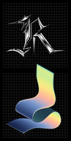 36 Days of Type 2019 36 Days of Type 2019 on Behance 3d Max Tutorial, Lettering Design, Logo Design, Futuristic Art, 36 Days Of Type, Retro Futurism, Graphic Design Posters, Grafik Design, Cover Art