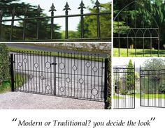 Looking to Buy Driveway Gates online in a size to suit your home? If so Metal Gates Direct have over 20 Double Metal Gates for sale in our online shop at some competitive discount prices. Driveway Gates For Sale, Metal Driveway Gates, Metal Garden Gates, Driveway Entrance, Metal Gates, Wooden Gates, Entrance Gates, Privacy Panels, Fence Panels