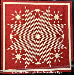 Ruby Jubilee by Karen Styles; Telling Stories Through the Needle's Eye: More Beauty from the Houston Quilt Exhibit Lone Star Quilt, Missouri Star Quilt, Star Quilts, Old Quilts, Antique Quilts, Vintage Quilts, Quilt Block Patterns, Quilt Blocks, Two Color Quilts