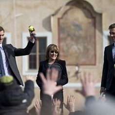Roger Federer in Prague to promote the Laver Cup