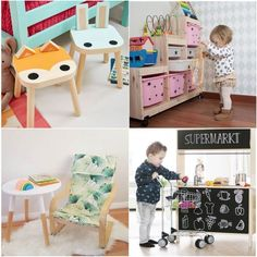 Mommo Design | Play your design -- Another IKEA kitchen where you can use the back for a little stand -- cute!