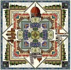 Tuscany Town Mandala Cross Stitch Pattern by Chatelaine Designs, Martina Rosenberg   http://europeanxs.com/cgi-bin/chat_detail.pl?CD058-