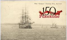 Pukekohe Ganges Ship The Settlers, Letter T, Ship, Yachts, Ships, Boats