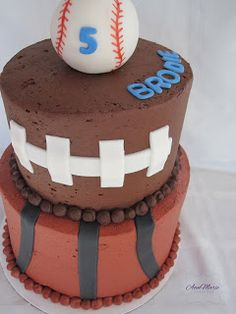 Sports Cake....love this!!  This is perfect for the boys