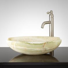 Ceres White Onyx Vessel Sink