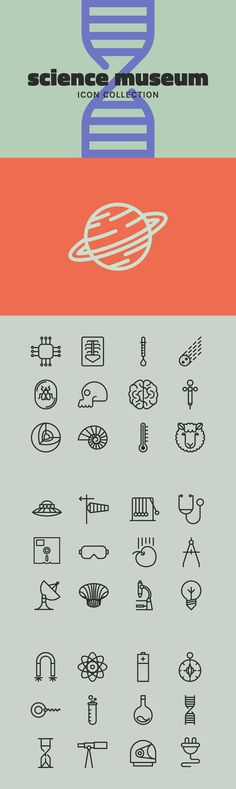 Science Museum - The Science Museum collection contains 50 vector .eps files. Drawings are all traced and s...
