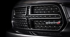 2014 Dodge Durango R/T in Granite Crystal Metallic with its signature crosshair grille. Visit http://www.jimclickdodge.com/