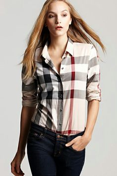 Plaid Blouses_long sleeve blouses_Blouses&ChiffonShirt_CLOTHING_Voguec Shop