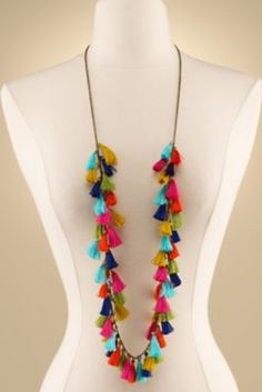 Festive Fringe Necklace - Fringe Necklace, Tassel Necklace | Soft Surroundings