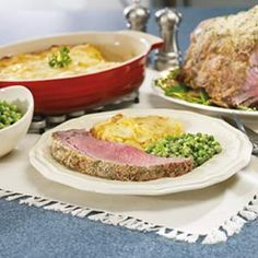 Herb-Crusted Rib Roast.  I first made this for a christmas dinner using the recipe from Publix.  I've moved north now and no more Publix, but the recipe is one I return to time and time again.  Absolutely amazing flavor