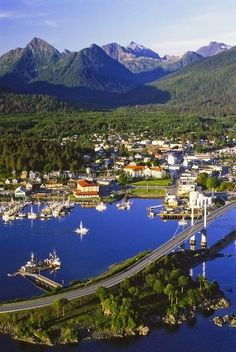 Sitka, Alaska where we lived for 5 years.  It's very seldom that sunny, though.