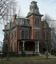 Love These Old Houses An Towered Brick House In Norwalk Ohio