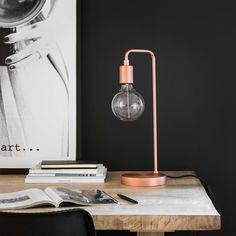 Lampe en métal cuivré   Maisons du Monde