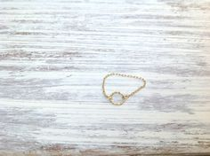 Gold ring chain ring circle ring 14k gold filled dainty by Avnis