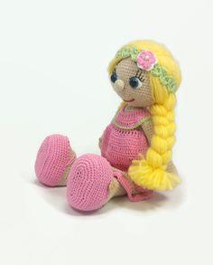 Crochet muñeca muñeca amigurumi ganchillo muñeca de