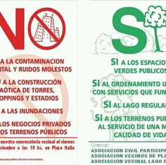 NO contaminacion SI consciencia ambiental