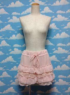 Frill Lace Skirt Pants in Powder Pink from Dear My Love - Lolita Desu