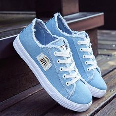 Casual shoes woman 2020 new arrival lace-up canvas shoes spring/autumn – cuteshoeswear cute canvas shoes canvas shoes with jeans canvas shoes for girls Non Slip Sneakers, Denim Sneakers, Denim Shoes, Shoes With Jeans, Girls Sneakers, Casual Sneakers, Girls Shoes, Sneakers Fashion, Shoes Sneakers