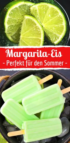 """Margarita ice cream: cocktail on a stick Would you like to cool down? Then a margarita popsicle is the best choice. This is how the refreshing """"poptail"""" goes … Easy Strawberry Lemonade Recipe, Good Lemonade Recipe, Flavored Lemonade, Homemade Lemonade Recipes, Rum Cocktail Recipes, Cranberry Juice Cocktail, Cocktail Syrups, Vodka Cocktails, Cocktail Food"""