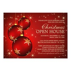 Business Christmas Open House Invitations #business #christmas #open #house #holiday