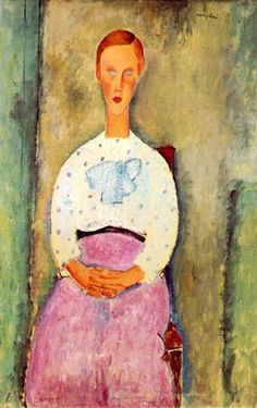Girl with a Polka-Dot Blouse Amedeo Modigliani The Barnes Foundation Painting - oil on canvas Amedeo Modigliani, Modigliani Paintings, Italian Painters, Italian Artist, Oil On Canvas, Canvas Art, Illustration Art, Illustrations, Polka Dot Blouse