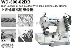 500-02BB High Speed ​​Flat-bed interlock met Tape Binding (Edge Rolling), Uitzicht interlock met tape bindend, WORLDEN Details van het product van Hangzhou Worlden Imp & Exp Co., Ltd. op Alibaba.com
