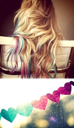 LOVING THIS NEW HAIR TREND...Lauren Conrad dip-dyed / tie-dyed her hair after consulting her blog viewers and they voted 'Yes'!If I were younger, I'd definitely copy-cat!{Source: The Beauty Department}
