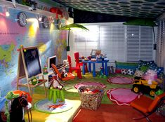 Love this playroom for kids