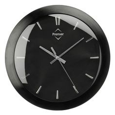 Aluminium Black Faced Kitchen Wall Mountable Clock With Silver Dials Hands | eBay