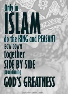 Only in Islam!