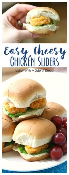 Easy Cheesy Chicken Sliders - Butter With A Side of Bread #WMTProjectAPlus #ad