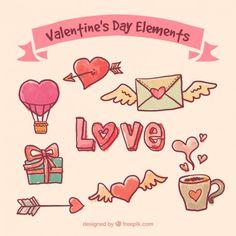 St. Valentine's Freebies - icons, patterns, postcards, webdesign elements http://blog.templatemonster.com/2016/02/10/free-valentines-day-vector-graphics/?utm_source=pinterest&utm_medium=tm&utm_campaign=frvalvc #psd #vector