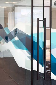 Algomi Headquarters. // very cool patterns, frosting on glass walls