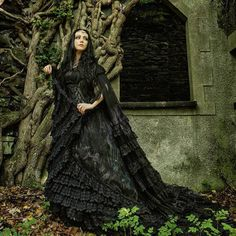Lady Amaranthine   Speaking of gothic wedding dresses. This is still my favourite by one of my favourite brands who are now also on instagram! Welcome @sinister_gothic :) you can buy the Cape and dress from @thegothicshop. Photo by Kestrel #gothicfashion #fantasyart #gothicweddingdress #ladyamaranth #sinisterclothing #thegothicshop