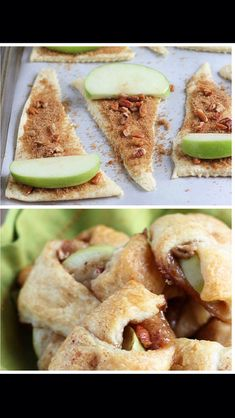Apple Pie Bites-*Danny made these for me the other night. Quick, easy and delicious! Must make again for an easy dessert. Apple Pie Bites, Apple Bite, Mini Apple Pies, Mini Pies, Individual Desserts, Bite Size Desserts, Individual Apple Pies, Bite Size Food, Small Desserts