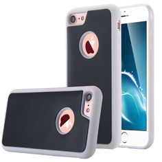 Accessory Crunch Anti-Gravity Selfie Case for iPhone Nano Suction Stick to Glass, Tile, Car GPS, Most Smooth Surface - Black on White 6s Plus Case, Iphone 6 Plus Case, Iphone 7 Cases, Iphone 4s, Apple Iphone, Iphone 7 Plus Accessories, Apple Watch Accessories, Buy Iphone 6, Anti Gravity
