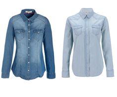 UNE CHEMINE EN JEAN Denim Button Up, Button Up Shirts, Jeans, Button Downs, Tops, Women, Style, Fashion, Black Pants