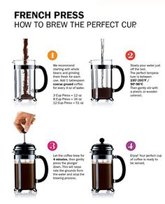 BOJE French Press Coffee Maker - Cafetiere - FREE Replacement Glass With Warranty - Stainless Steel and Durable Glass Carafe - Sleek, Classic Design Coffee Is Life, I Love Coffee, Coffee Break, Coffee Cafe, Coffee Drinks, Coffee Shop, Espresso Coffee, Coffee Mugs, Espresso Maker