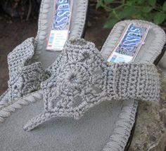 GlobeIn: Francis crocheted flip flop sandal - grey #crochet #sandals #gray