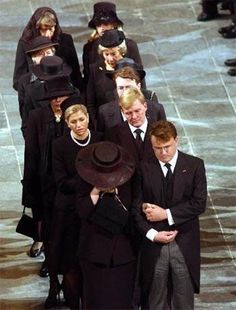 Funeral of the father of Willem Alexander.In front his mother Beatrix. And on her side his brother Friso who died in August 2013